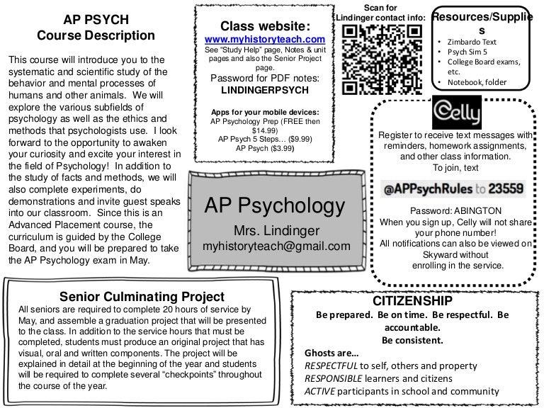 AP Psych Syllabus