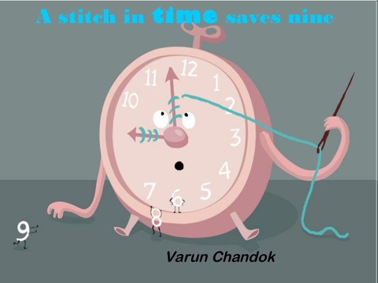 a ppt of stitch in time saves nine
