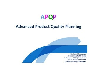 APQP. 2nd Edition