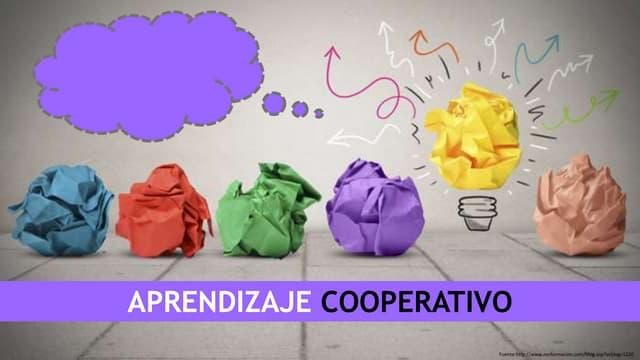 Aprendizaje cooperativo.
