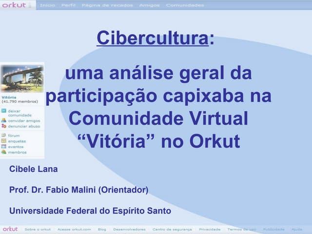 Participação Capixaba na Comunidade Vitória do Orkut