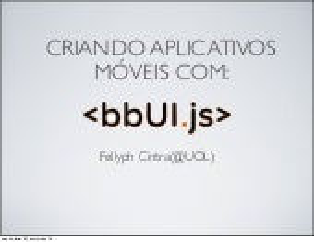 Criando Aplicações Móveis com bbUI.js