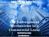 The Enforcement Mechanisms in a Commercial Lease