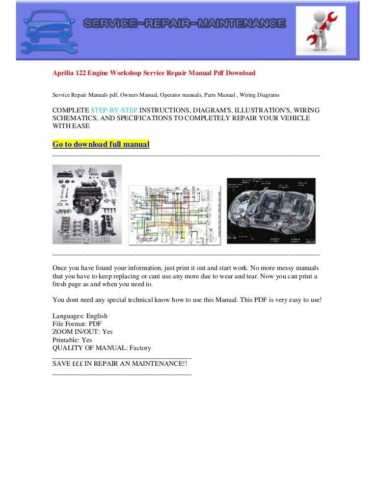 Aprilia 122 engine electrical wiring diagram pdf download