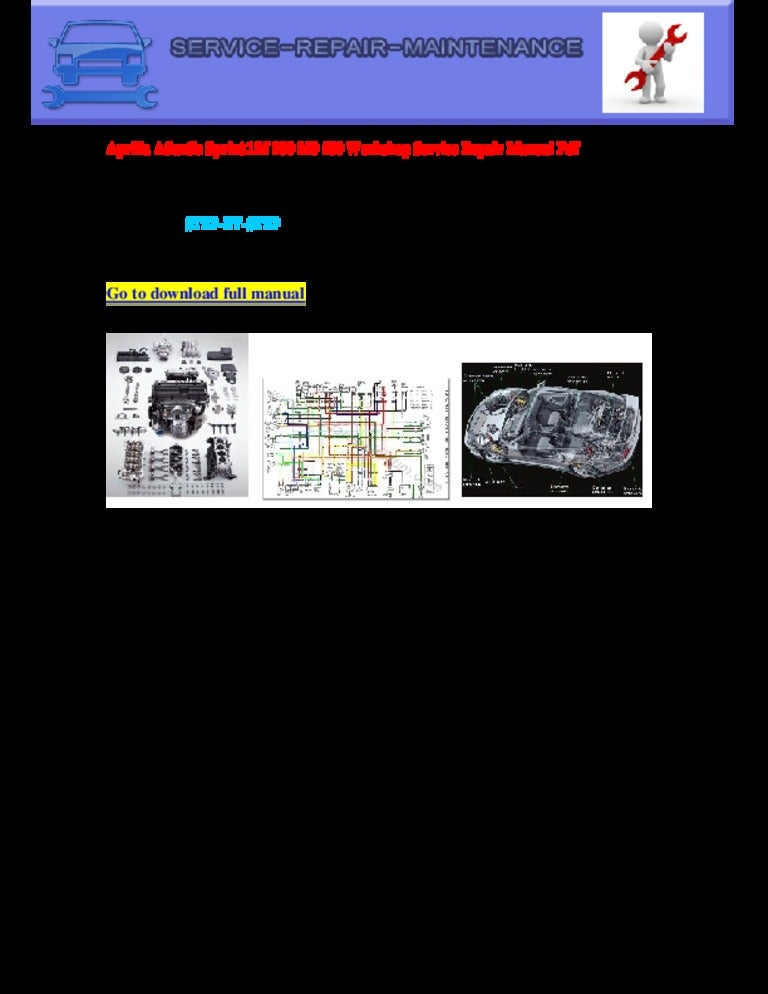 Aprilia Atlantic Sprint Electrical Wiring Diagram Pdf Download