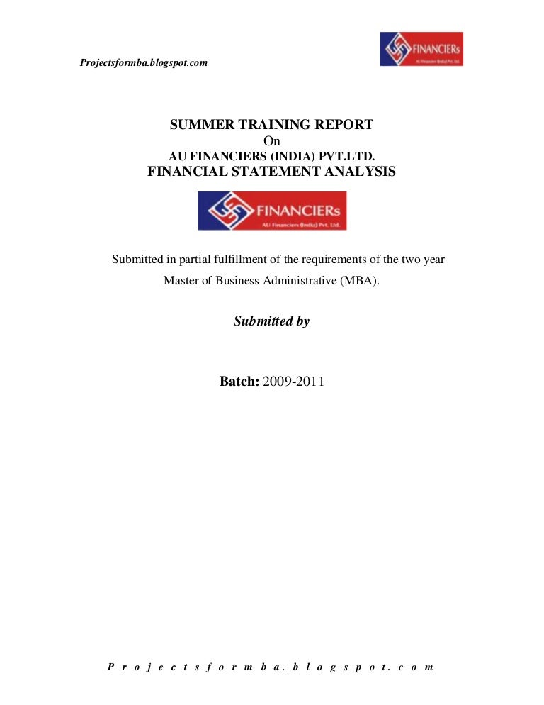 Dissertation project report finance