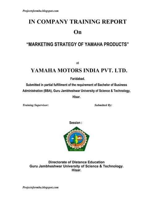 marketing strategy of yamaha motors