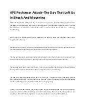 essay on aps peshawar attack in english