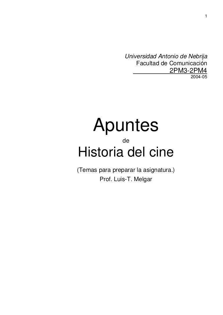 Apuntes de historia del cine