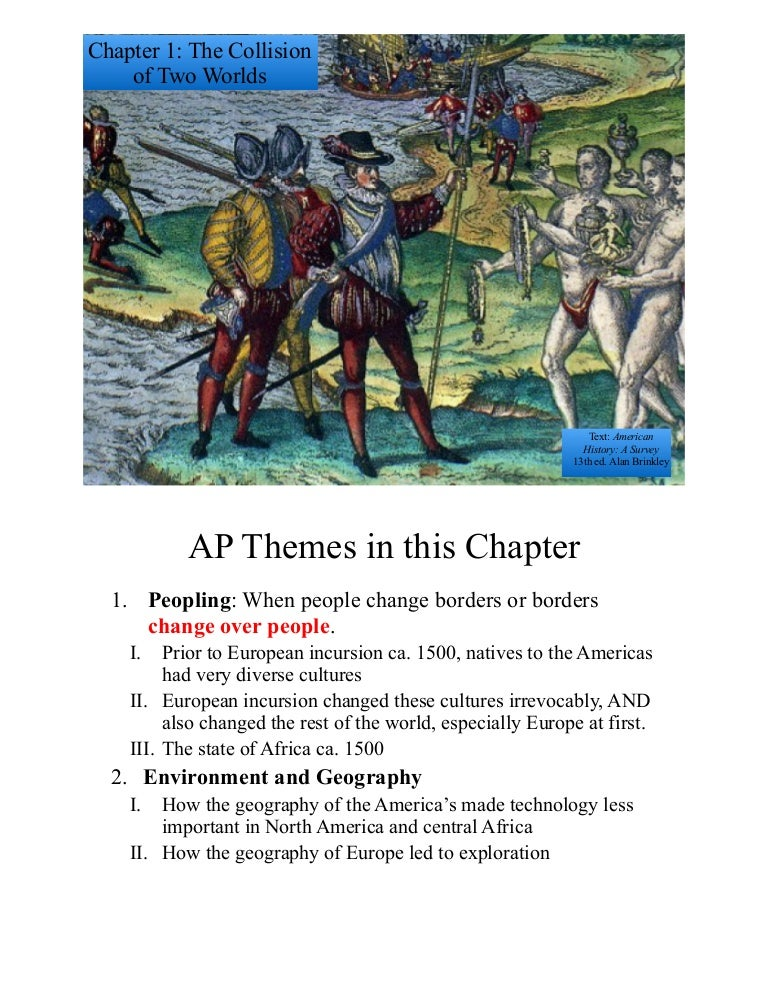 traditions and encounters chapter 7 notes
