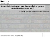 A media industry perspective on digital games