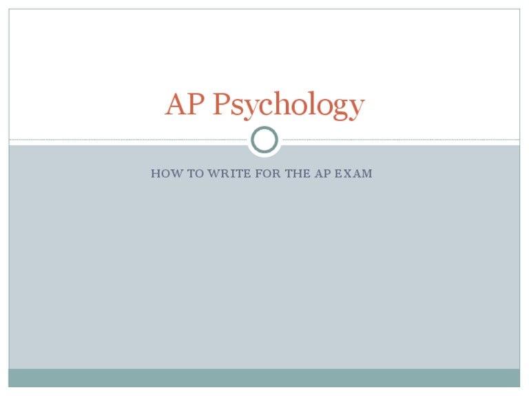 ap psychology essay