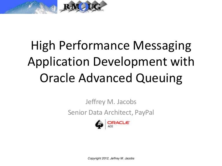 HIgh Performance Messaging App Development with Oracle