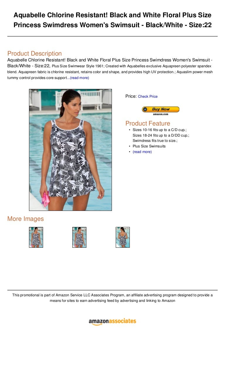 a5907631c1511 Aquabelle chlorine resistant! black and white floral plus size prince…