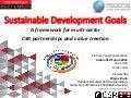 SDGs: A framework for multi-sector CSR partnerships and value creation