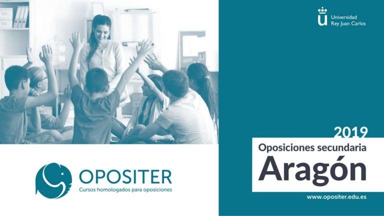 Oposiciones Secundaria Aragon 2019