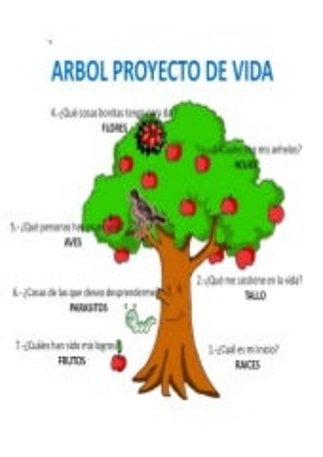 árbol Proyecto De Vida