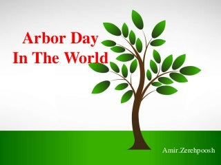 Arbor day in the world