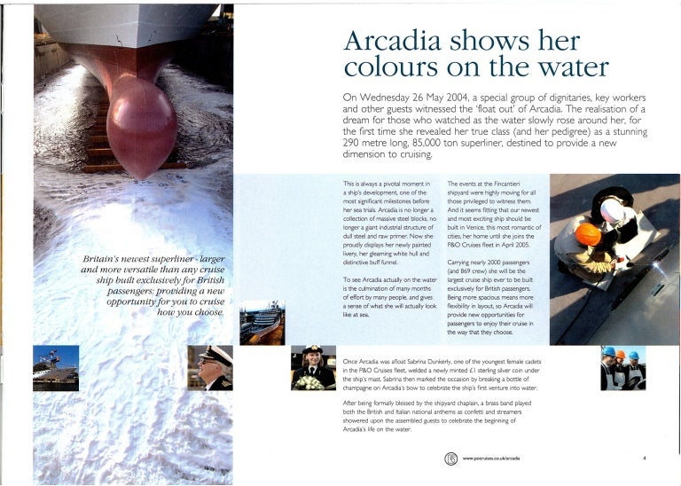 Arcadian Magazine for P&O