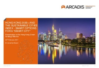 """Hong Kong 2030+ and the Sustainable Cities Index - Smart Options for a """"Smart City"""""""