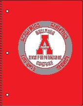 Archer High School Red Proof for Spiral-bound Notebook
