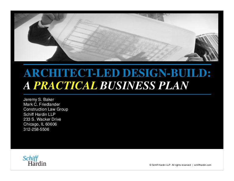 ArchitectLed DesignBuild A Practical Business Plan