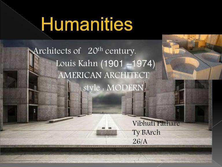 20Th Century Architects architect louis kahn