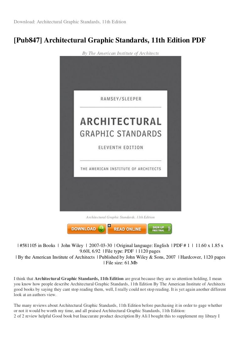 Review architectural graphic standards 11th edition pdf e6cb2 fandeluxe Images