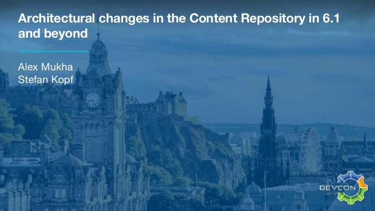 Architectural changes in the repo in 6 1 and beyond