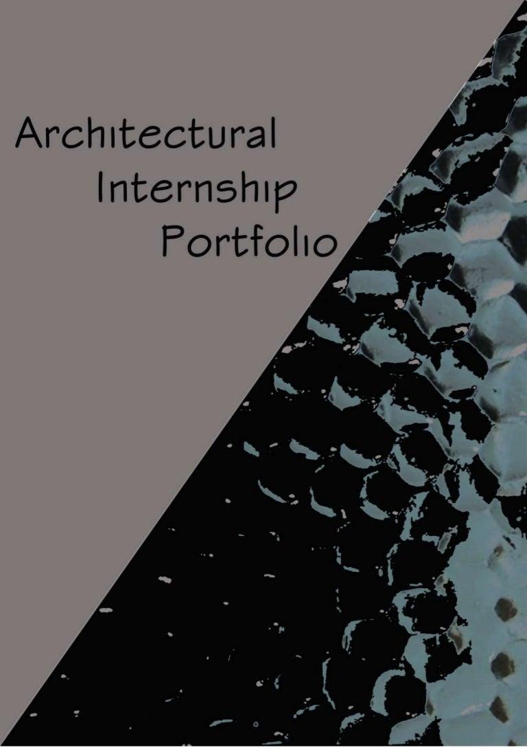 Architectural internship portfolio