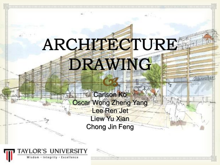 Architectural design drawing Planning Slideshare Architecture Drawing Presentation