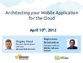 APAC Webinar Apr 10 - Architecting your Mobile App for the Cloud