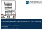 From pair programming to mob architecting