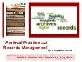 Archival practice and records management