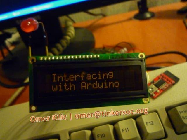 Interfacing with Arduino