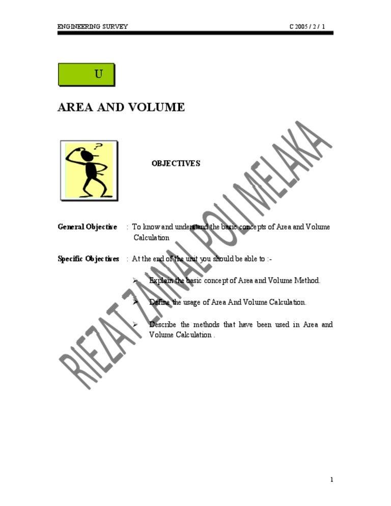 Area and Volume Survey Engineering (RZ)