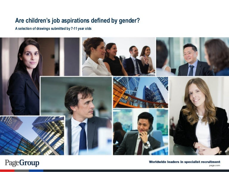 Are children's job aspirations defined by gender