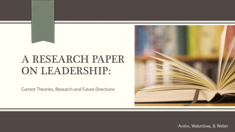 a research paper on leadership