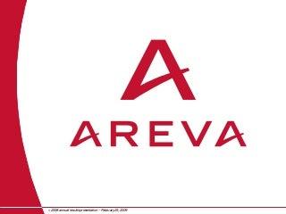 AREVA, 2008 annual results