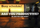 Are you productive? (...or are you just busy?)