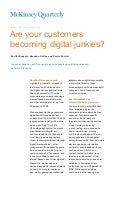 Are your customers becoming digital junkies - McKinsey Quarterly, July 2011