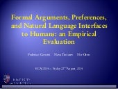Formal Arguments, Preferences, and Natural Language Interfaces to Humans: an Empirical Evaluation
