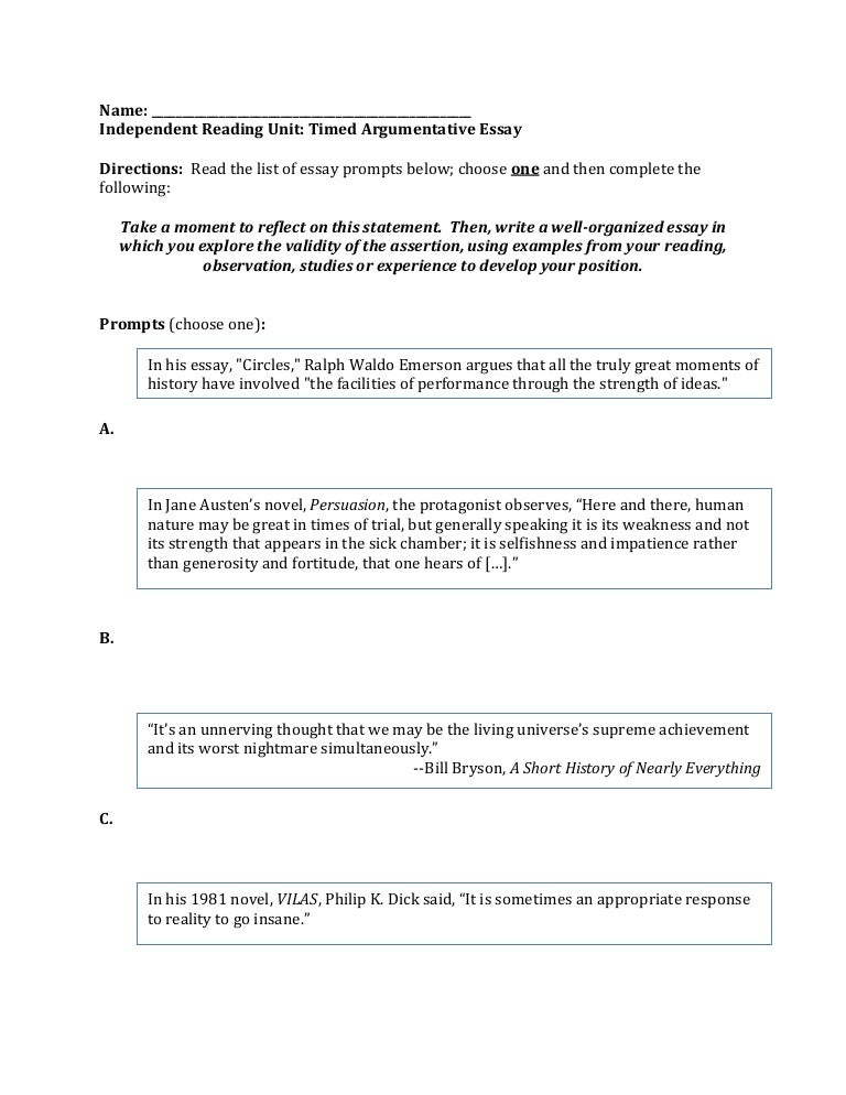 argumentative essay prompts writing prompts for a paragraph  argumentative essay prompt