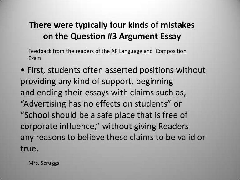 argumentative essay example for college