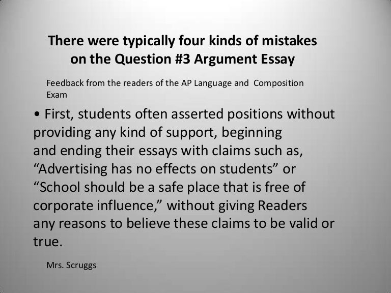 argumentative essay example for college