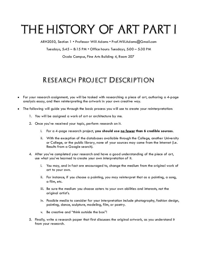 visual art research paper