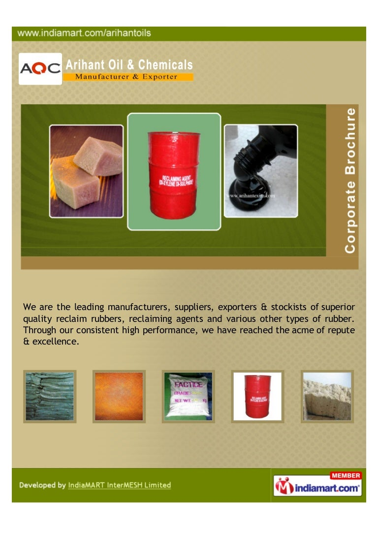 Arihant Oil & Chemicals, New Delhi, Reclaim Rubber