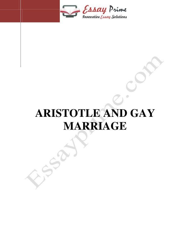 aristotle and gay marriage sample