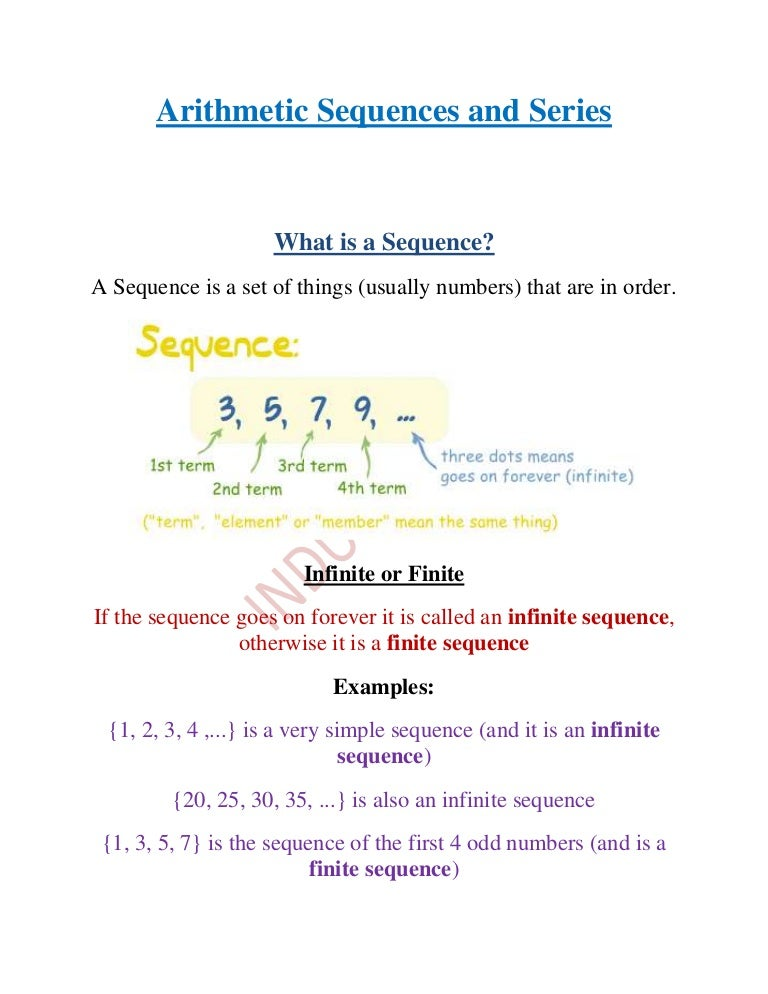 Arithmetic Sequence Worksheet Answers Vaydileforic