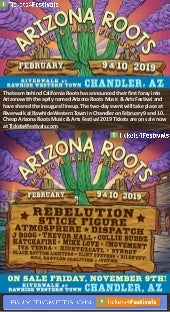 Arizona roots music festival 2019 lineup and tickets